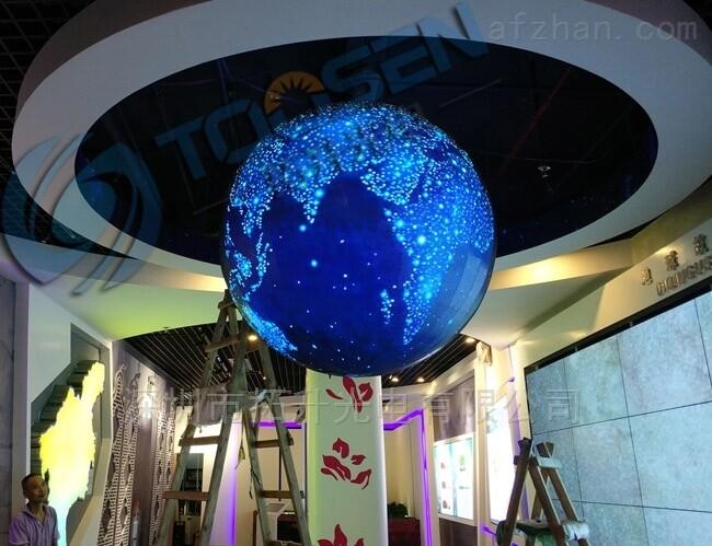 半球形及圆球形LED球形屏都有那几种型号