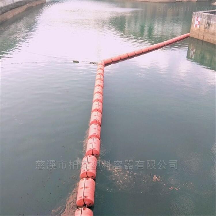 低水头电站拦污浮筒 汛期大坝拦漂浮物浮排