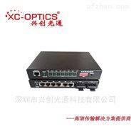 级联百兆2光6电光纤交换机