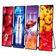 P2高清LED镜子屏超薄电子海报易拉宝广告机