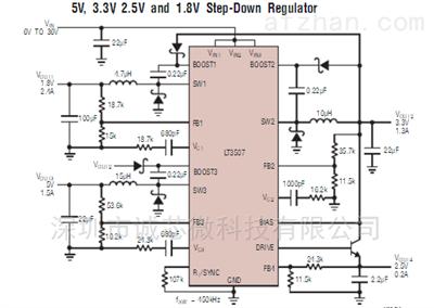 sw3507智荣车充快充芯片 5v3.4a降压ic方案