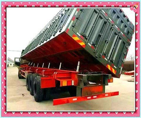 13米标准侧翻自卸半挂车在海外市场必有一番
