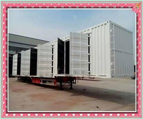 2019标准45英尺集装箱半挂车高效优质应城市