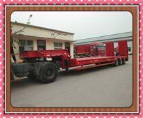 100吨重型低平板机械运输车出口价格与内销