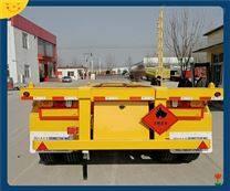 40英尺危险品骨架集装箱运输车上户尺寸
