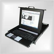 KVM切换器热键8口USB机架折叠抽拉式17寸