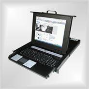KVM切換器熱鍵8口USB機架折疊抽拉式17寸