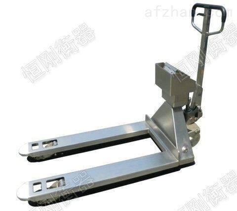 防爆电子叉车秤,5t不锈钢液压地牛秤